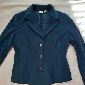 Cato blue button down blazer